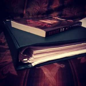 Infamous binder plus an erotic anthology I was supposed to review months ago.