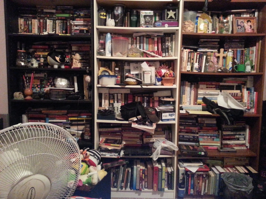 Bookshelves (what a mess)