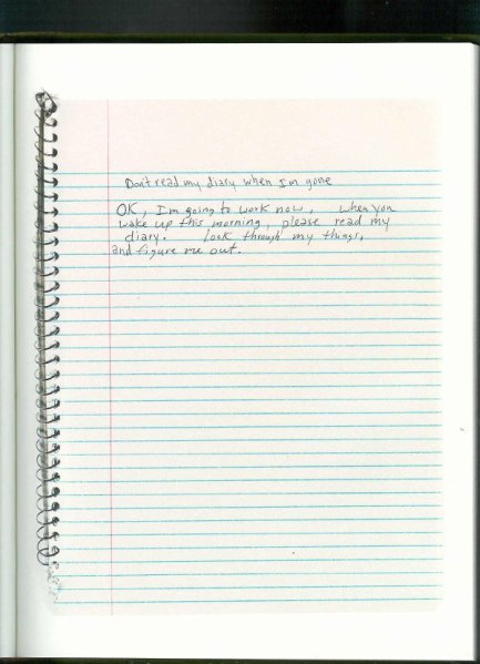 From Journals by Kurt Cobain